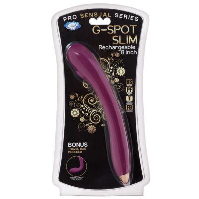 Cloud 9 Slim - akkus, flexibilis G-pont vibrátor (lila)