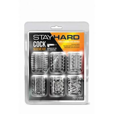 Stay Hard Cock vízálló péniszgyűrű 6 db