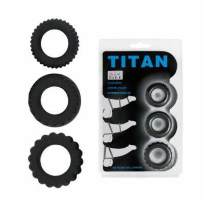 Titan 3 in 1 vízálló péniszgyűrű