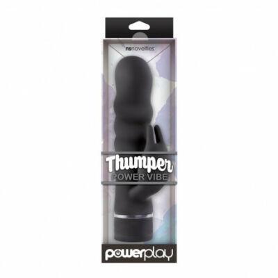 PowerPlay Thumper Power lányan bordázott, forgófejes vibrátor